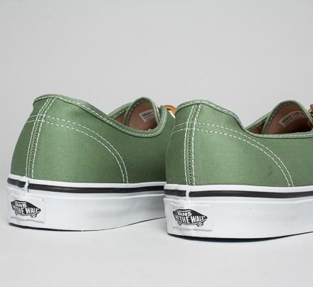 4236b2e29d Vans Authentic Bushed Twill (Shale Green True White) - Consortium.