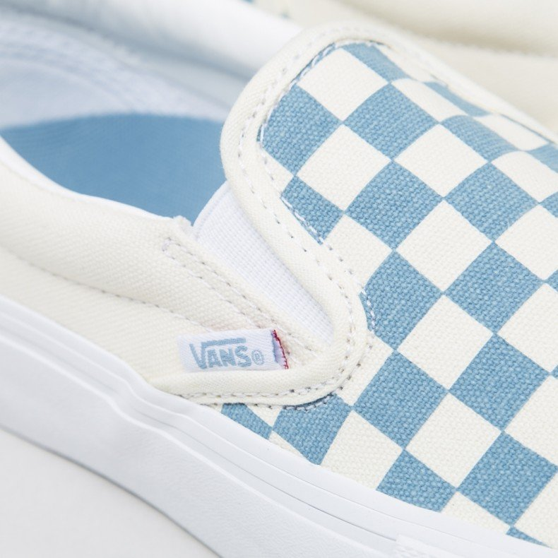 d7615fed53 Vans Checkerboard Slip-On Pro (Adriatic Blue White) - Consortium.