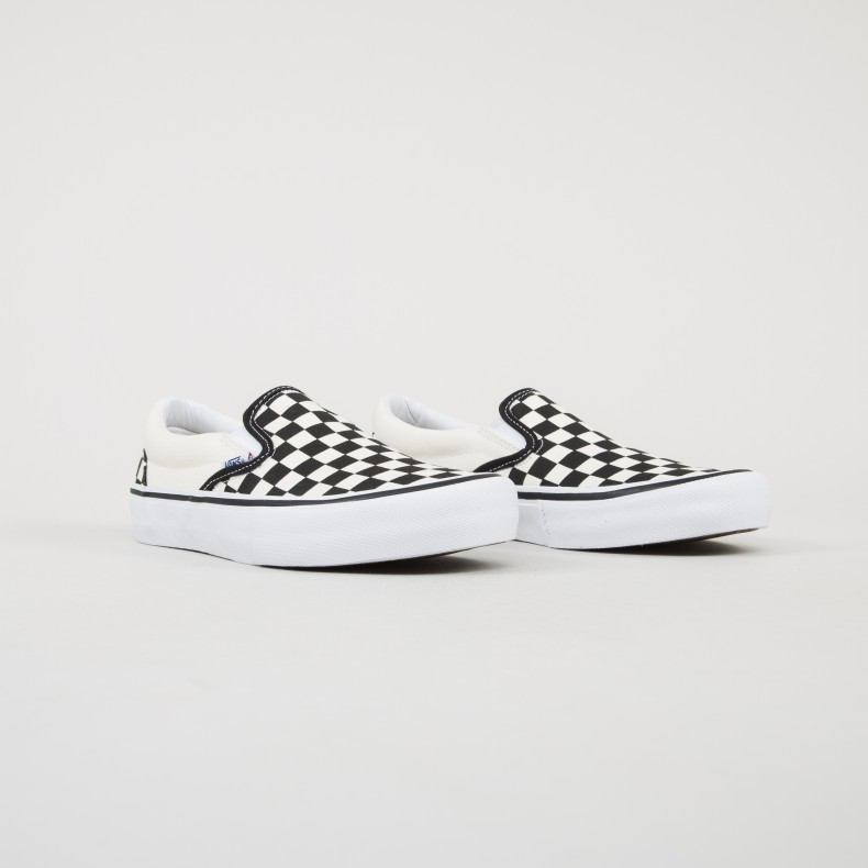 3470774fdeb Vans Checkerboard Slip-On Pro (Black White) - Consortium.