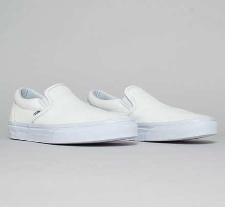 92c6fb2e0846 Vans Classic Slip-On Premium Leather (True White Mono) - Consortium.