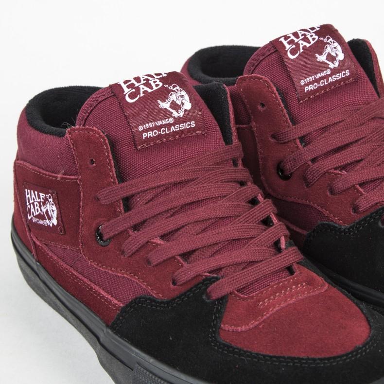 034b1f8b1f Vans Half Cab Pro (Cabernet Black Black) - Consortium.