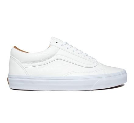 vans old skool white leather