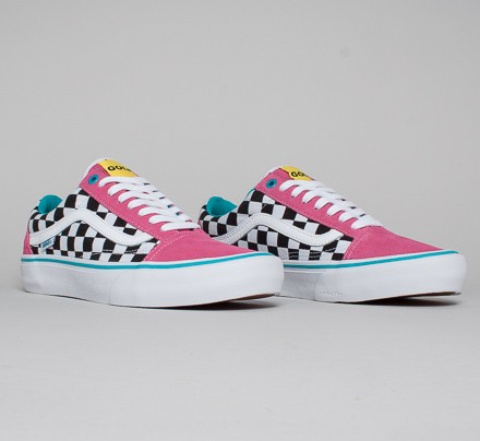 Vans Old Skool Pro Golf Wang Blue Pink White