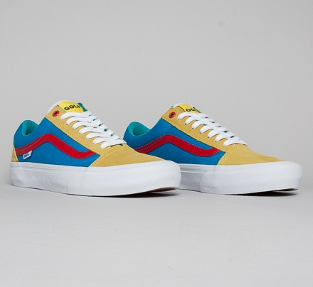 634c2a9b5c76bc Vans Old Skool Pro  Golf Wang  (Yellow Blue Red) - Consortium.