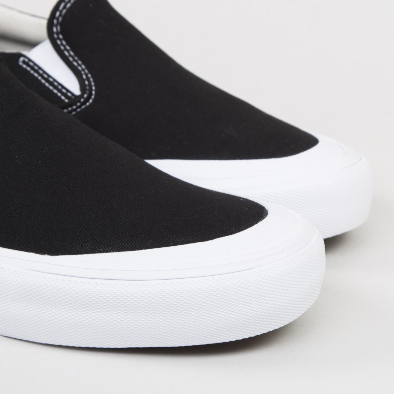 Vans Slip-On Pro Toe-Cap (Black/White) - Consortium.