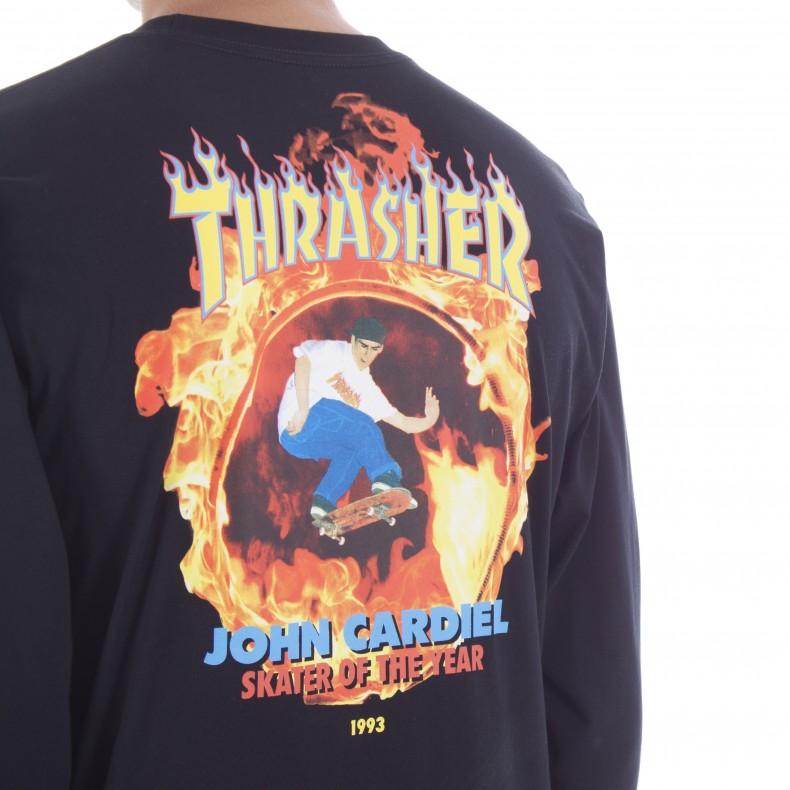 8eae6ba11719 Vans x Thrasher Cardiel Long Sleeve T-Shirt (Black) - Consortium.