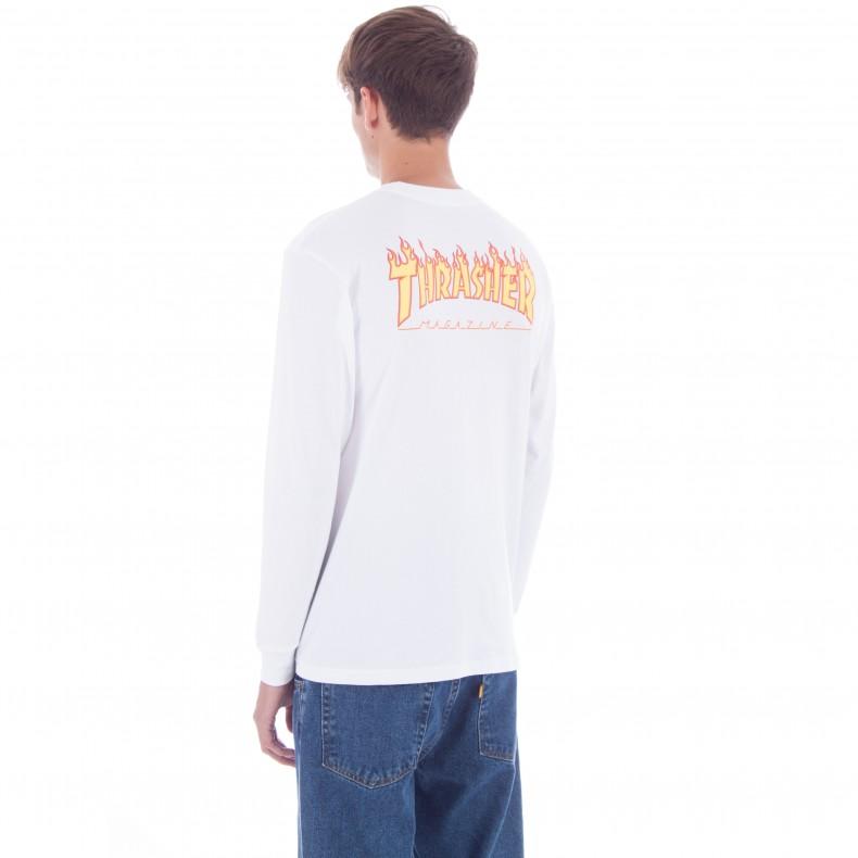 1ec4a283c5a9 Vans x Thrasher Checker Long Sleeve T-Shirt (White) - Consortium.