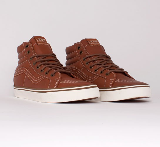 1495e4096d Vans California SK8-Hi Reissue CA Leather. (Ginger Bread Whisper White)