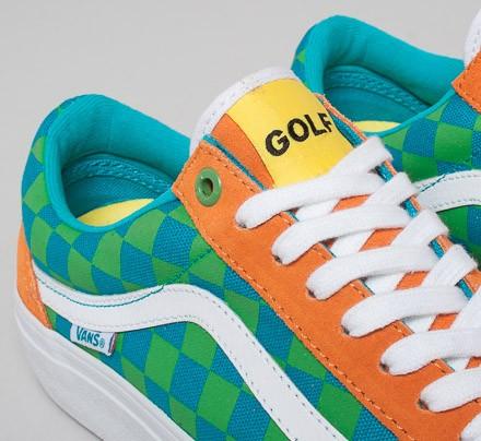 9dffcecbc9e3a7 Vans Old Skool Pro  Golf Wang  (Orange Blue Green) - Consortium.