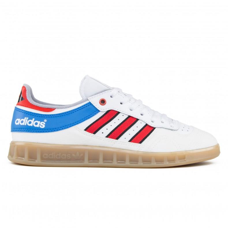 dea96b7a1e9 adidas Originals Handball Top (Vintage White -St Tactile Red Bright Royal)  - Consortium