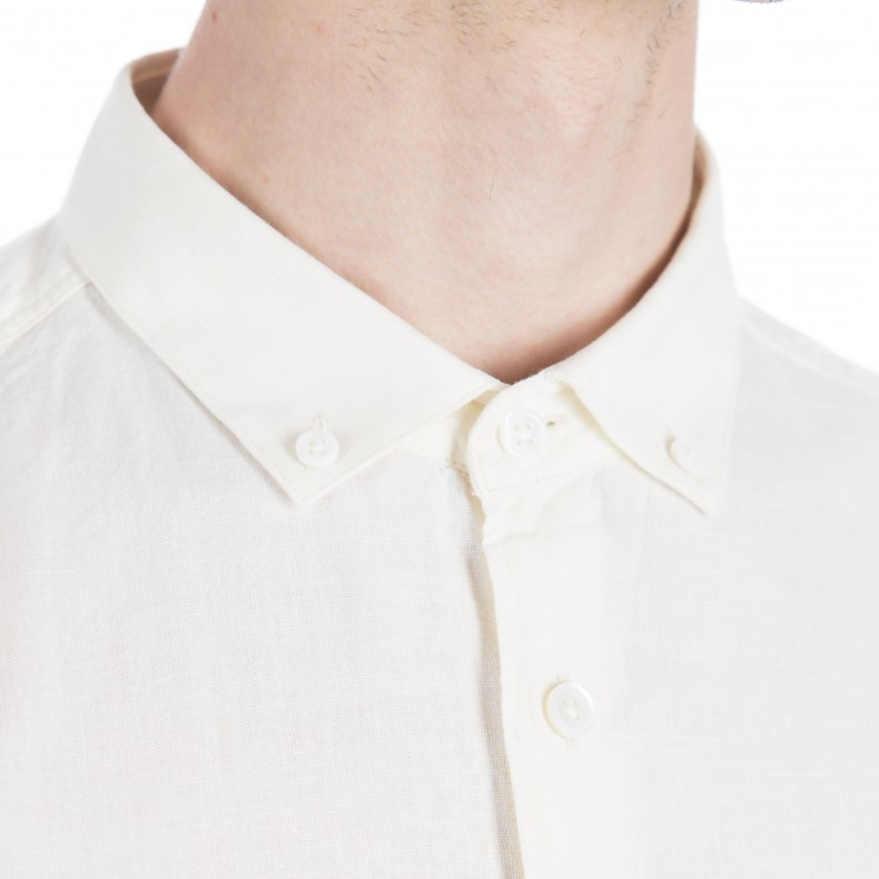YMC Harajuku Button Down Shirt (Cream) - Consortium.